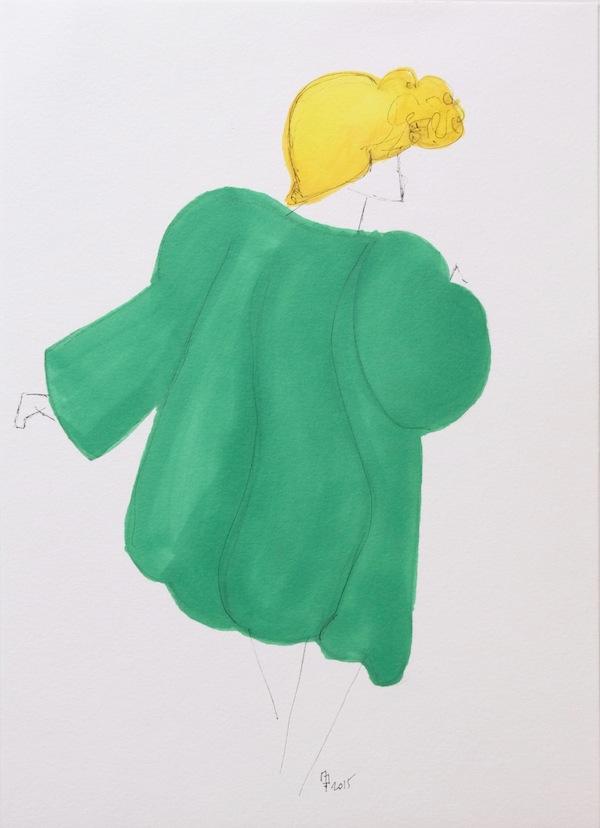 Manteau Vert YSL Mama Swing // La Femme Mickey // ©Marine Debeney