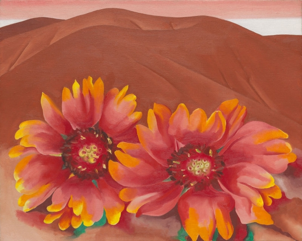 Red Hills with Flowers, Georgia O'Keeffe, 1937 © The Art Institute of Chicago