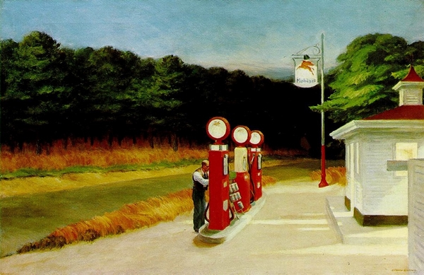 Gas - Edward Hopper, 1940 © 2016. Digital image, The Museum of Modern Art, New York/Scala, Florence