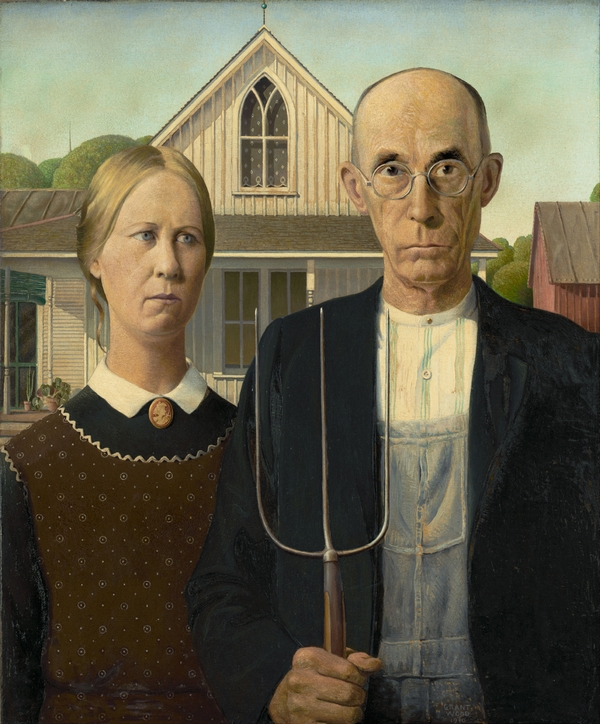 American Gothic - Grant Wood (1930) © The Art Institute of Chicago