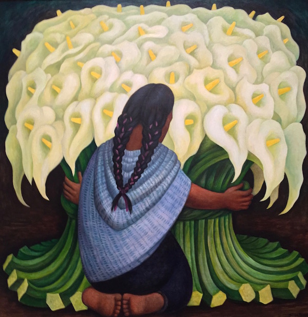 Vendeuse d'arums, 1942, Diego Rivera